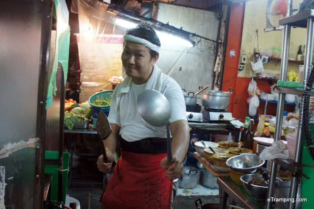 Thai chef smiling