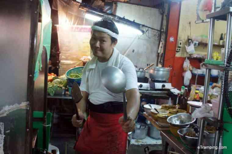 Thai chef smiling