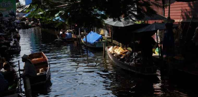 The view of Floating Market, Bangkok