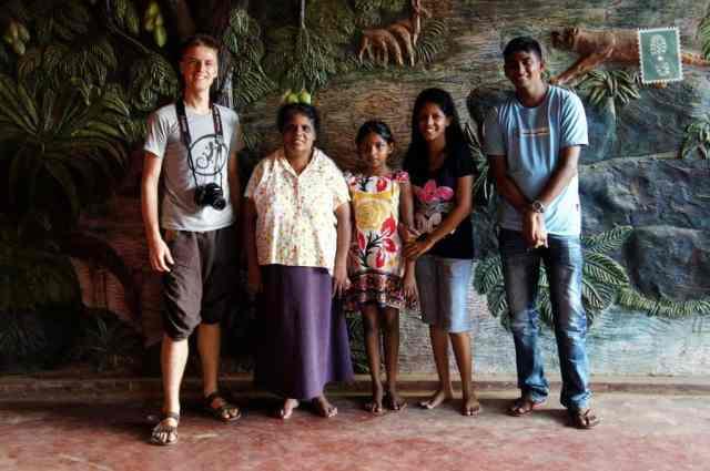Sri Lankan family