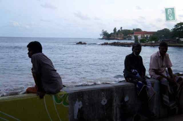 Galle beach locals