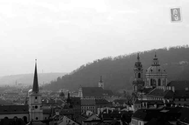 Beautiful scenery of Prague seen from the Charles Castle