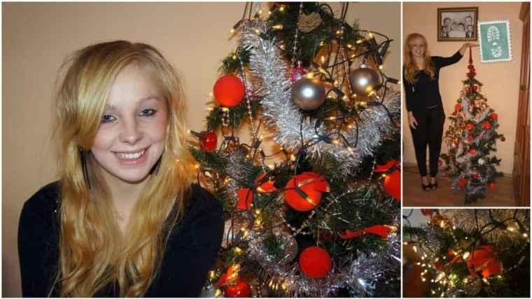 Christmas mood and a beautiful Christmas tree