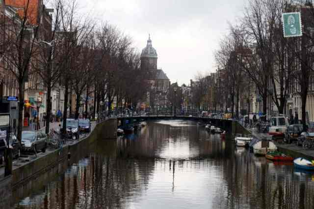 One of the canals in Amsterdam