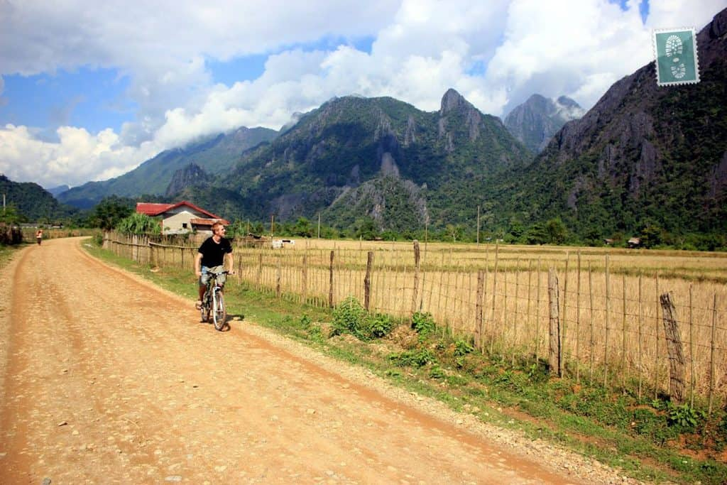 Cycling near Vang Vieng