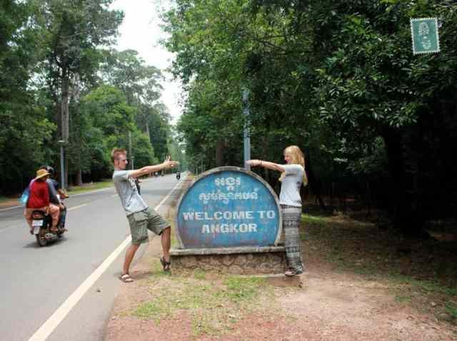 W drodze do Świątyni Angkor w Siem Reap