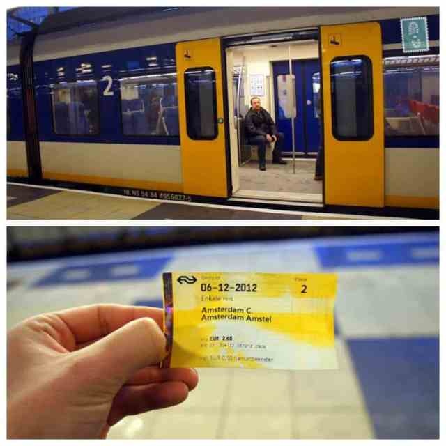 Subway ticket in Amsterdam Amstel