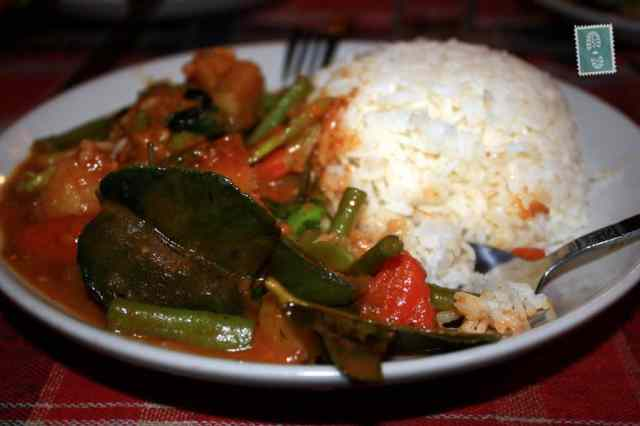 Red curry in Vang Vieng