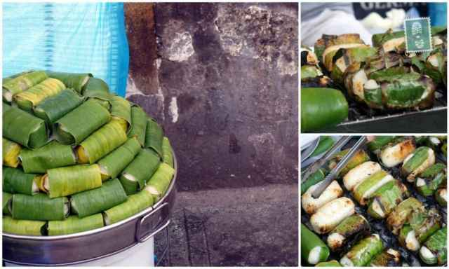 Spring-rolls-like fried bananas in Vietnam