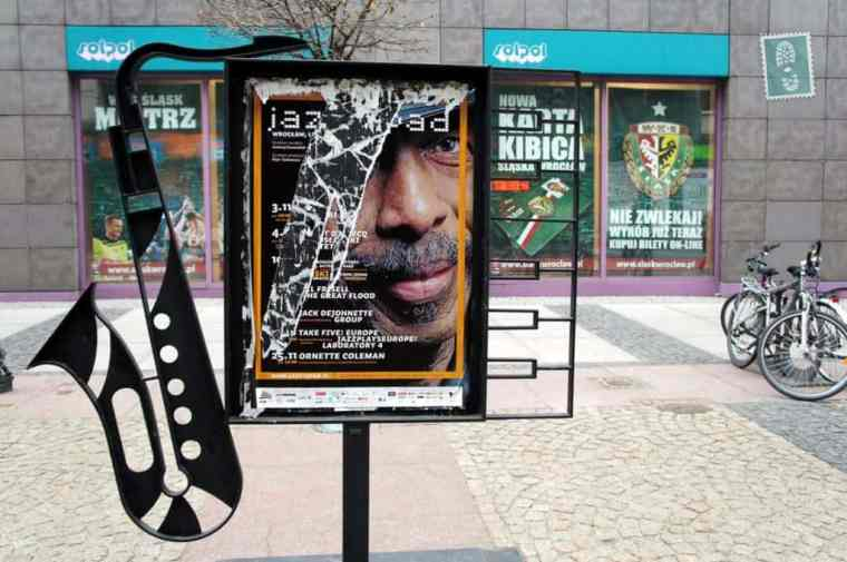 Wroclaw city, jazz advertisement