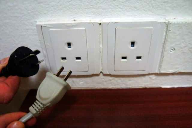 Our Chinese appliances not matching the shape of Macau sockets