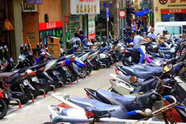 Motorbikes in Macau