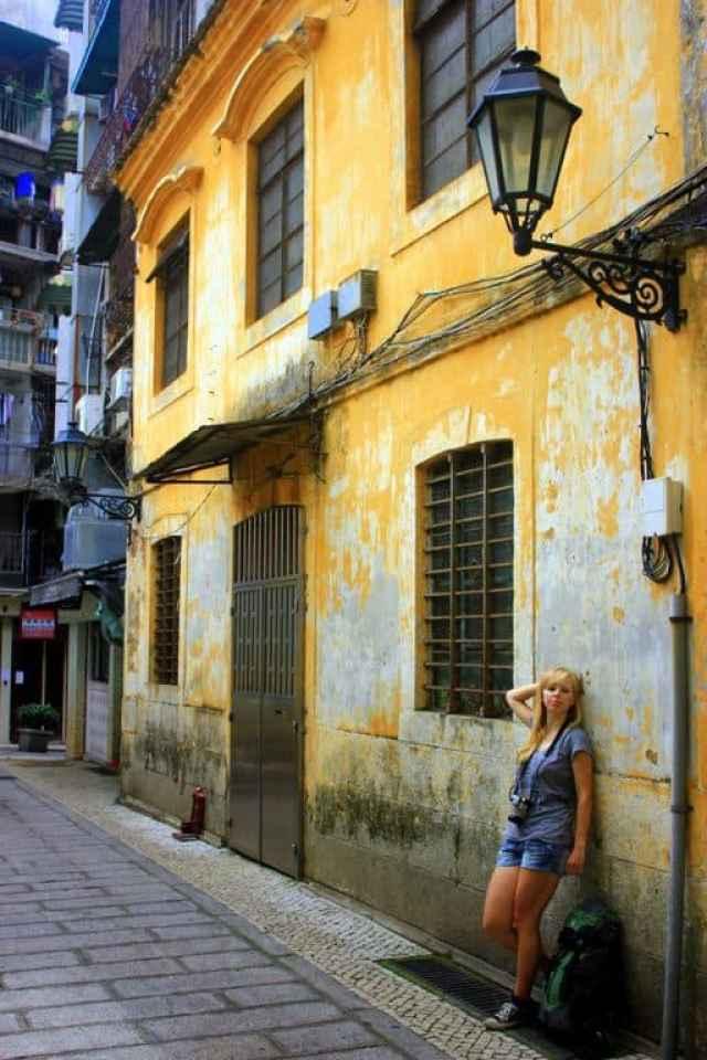 Narrow streets of Macau