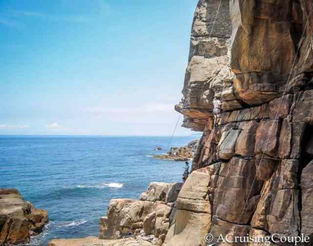 Rock climbing Long Dong Taiwan