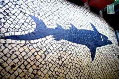Portuguese style pavements in Macau - Shark