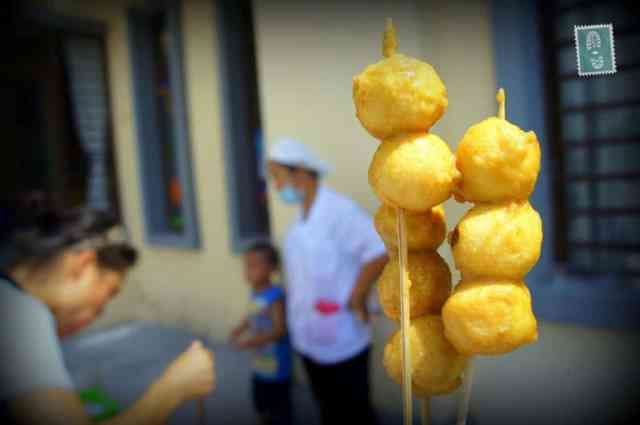 Fish balls on a stick