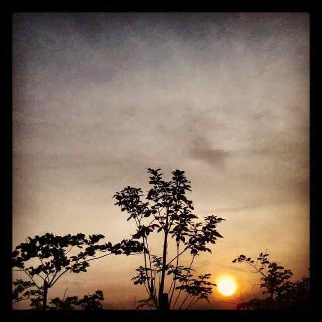 Sunset at Songshan the Lake
