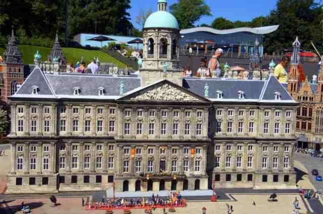 Miniature Amsterdam and Dam Square in Madurodam