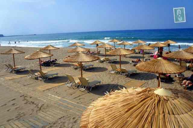 A beautiful beach in Rethymno