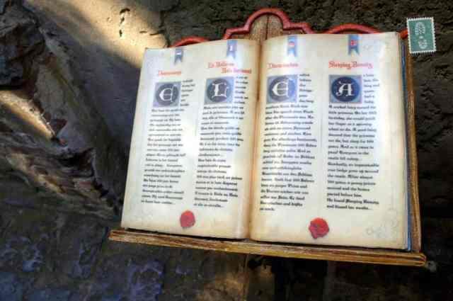 The story of Sleeping Beauty written in a book , Efteling