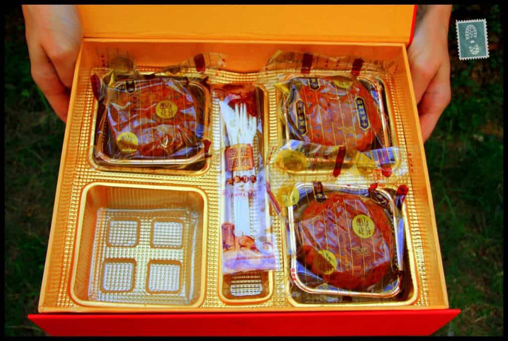 Mooncakes in the box