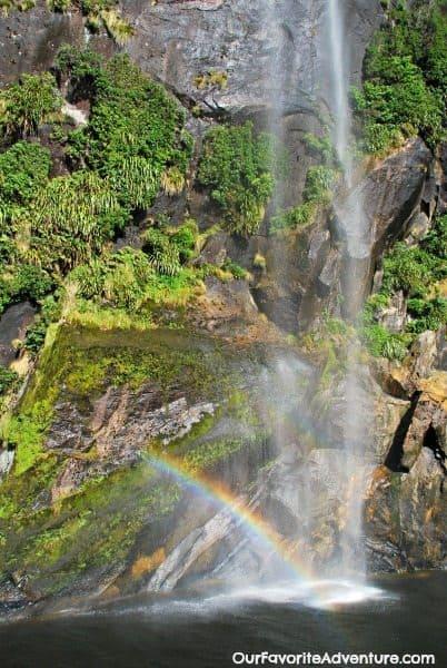Milford Sound Waterfall Rainbow