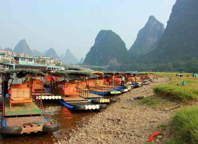 Yangshuo boats