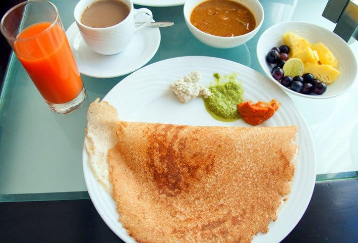 Dosa with sambar