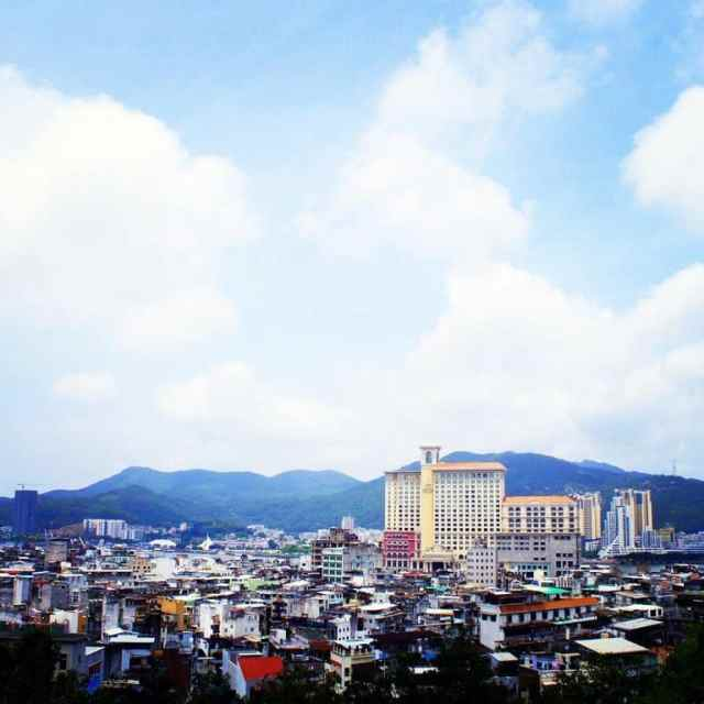 Macau landscape seen from the top of Monte Forte