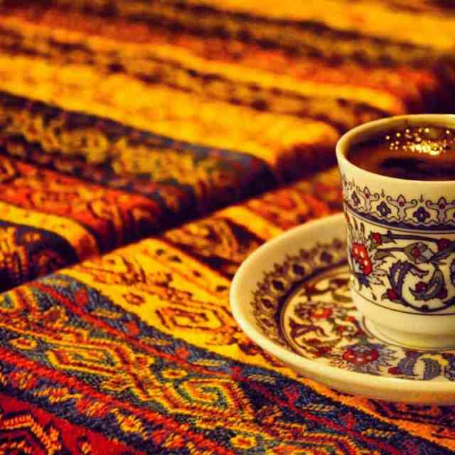 A cup of Turkish coffee.