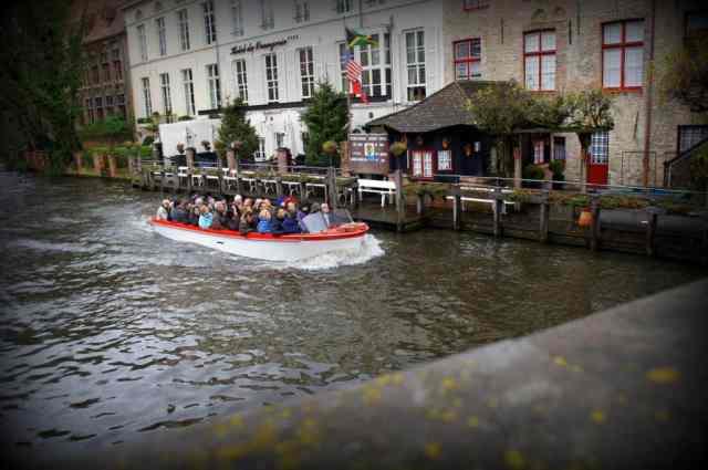 Boat ride in Bruges