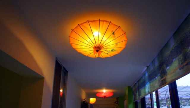 Beautiful lanterns brightening up the corridor