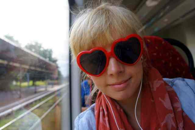 A girl on the train