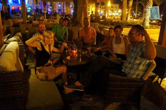 travelers are drinking in crete