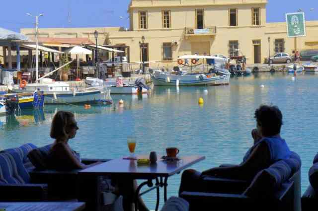 Restaurant located at Venetian Harbour in Rethymno