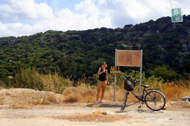 Cycling around the Mili Gorge