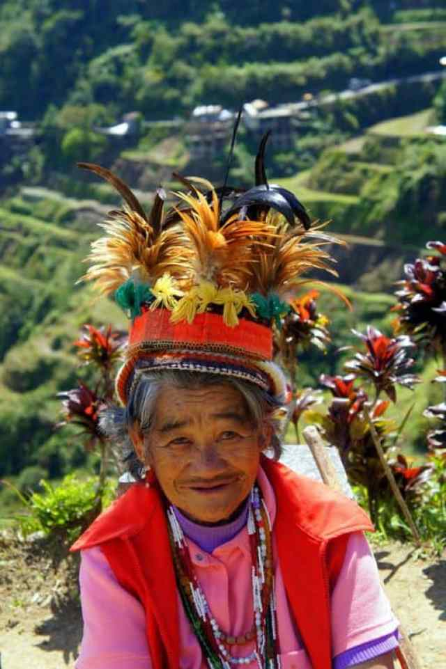 A Filipino woman in Banaue