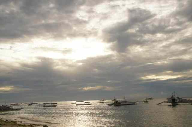 Alona beach in the morning