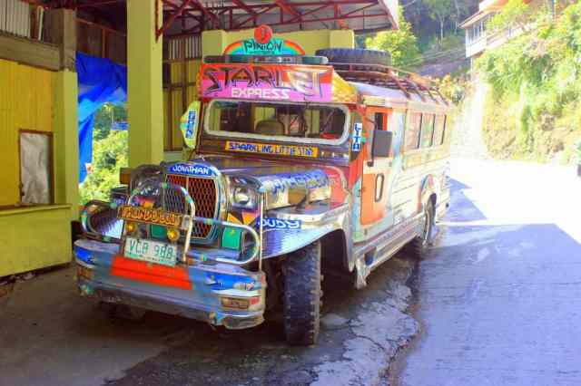 Cool jeepney in Banaue