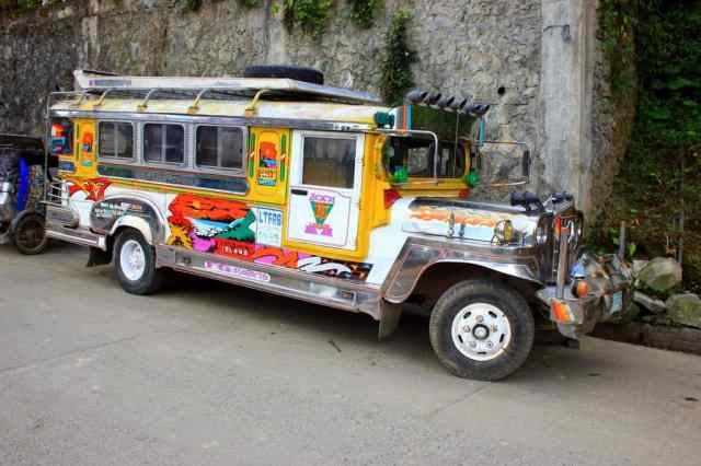 Fancy jeepney in Banaue