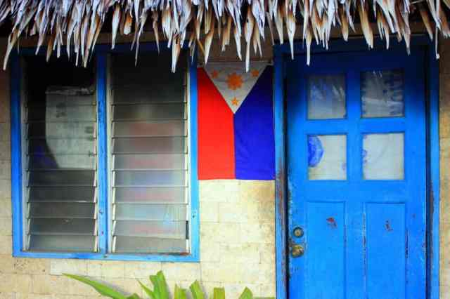 A wooden house in the Philippines