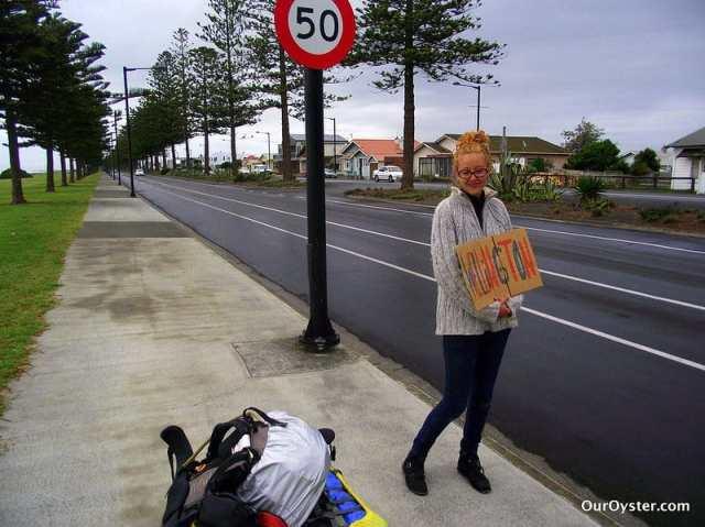 hitchhiking to wellington