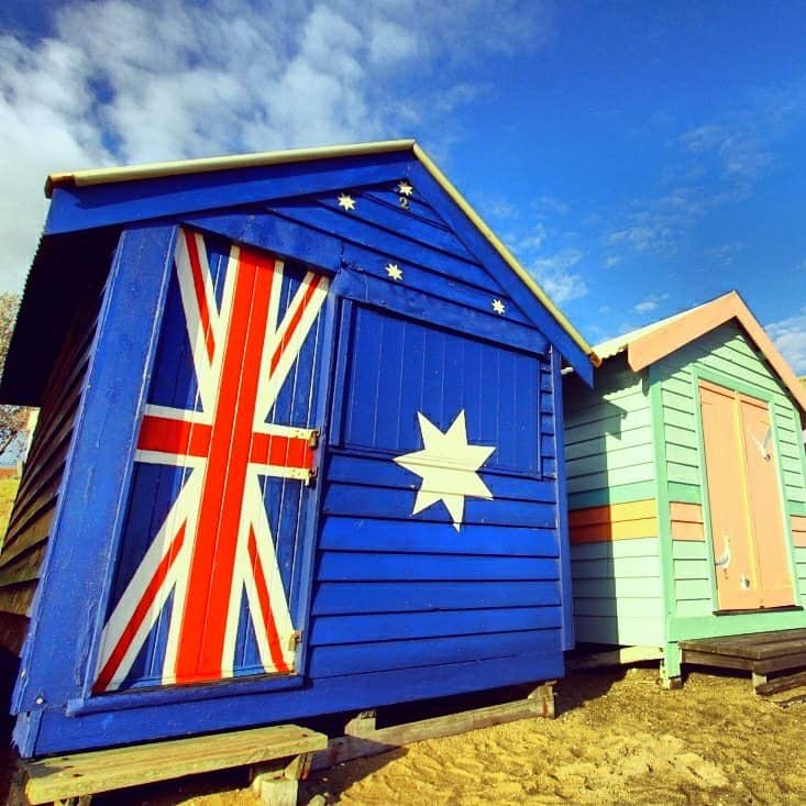 A house with Australian flag