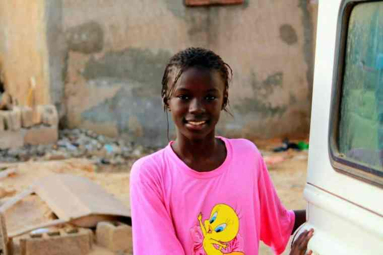 Black girl smiling