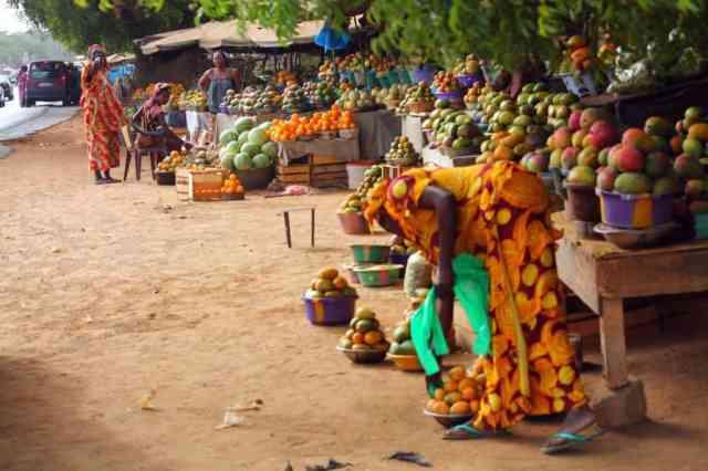Local market in Africa