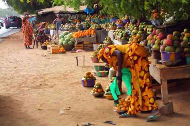 Local market in Africa