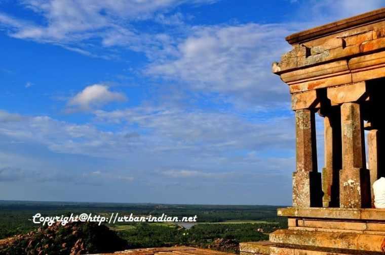 Beautiful Skies at Sravanabelagola