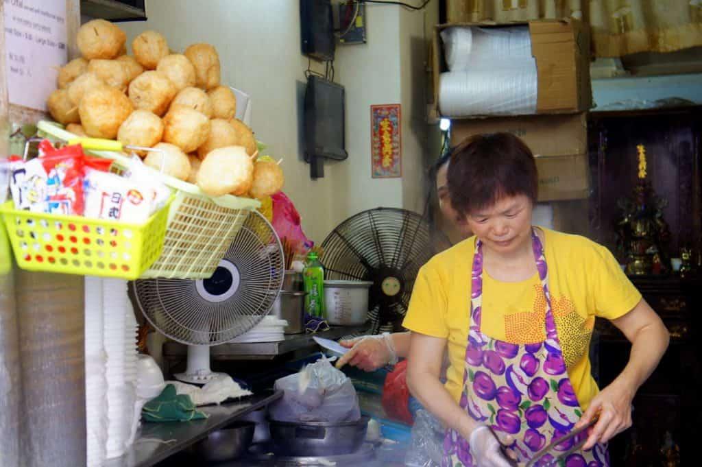 Seafood vendor in Macau