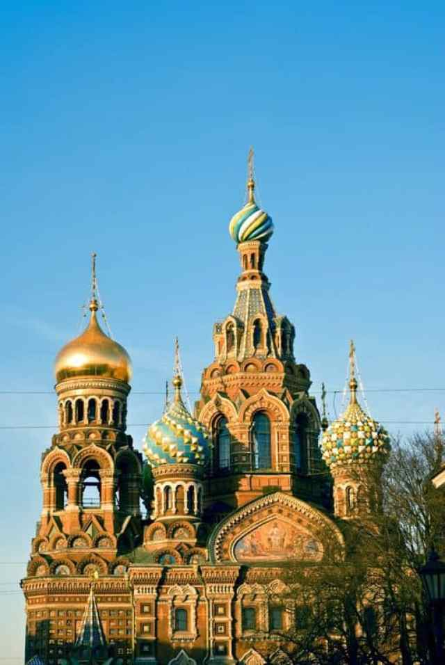 The Church of the Savior on Blood in Saint Petersburg.