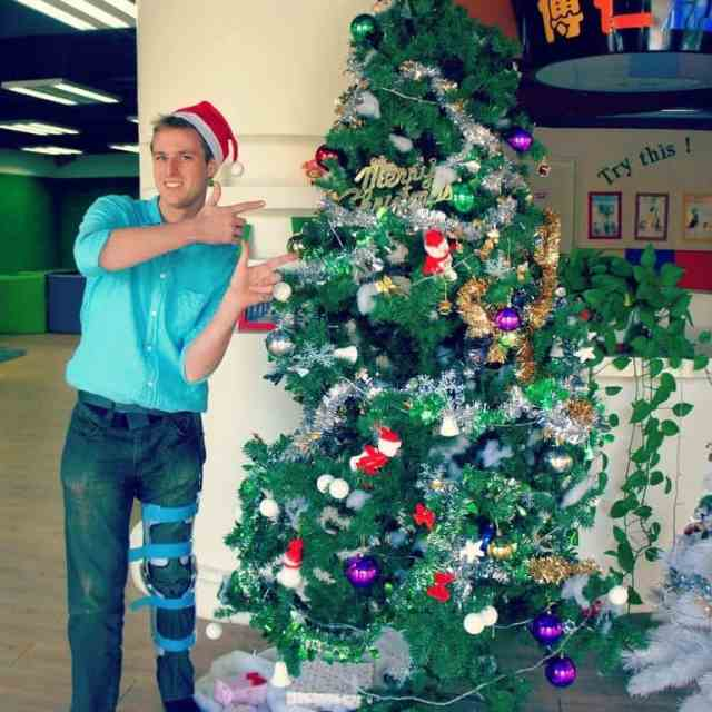 First Christmas in China after my accident